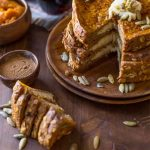 Pumpkin Pie Spice Stuffed French Toast