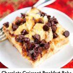 Chocolate Croissant Breakfast Bake