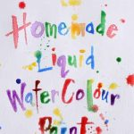 Homemade Liquid Watercolor Paint