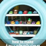 DIY Toy Shelves from a Used Tire