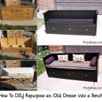 How To DIY Repurpose an Old Dresser into a Bench
