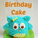 Easy Owl Birthday Cake