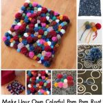 Make Your Own Colorful Pom Pom Rug!