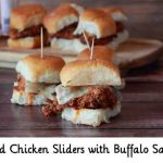 Fried Chicken Sliders with Buffalo Sauce