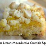 Meyer Lemon Macadamia Crumble Squares