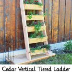 Cedar Vertical Tiered Ladder Garden Planter