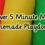 Easiest Ever 5 Minute Microwave Homemade Playdough!