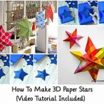 How To Make 3D Paper Stars (Video Tutorial Included)