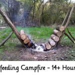 Self-feeding Campfire – 14+ Hour Fire