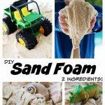 DIY Sand Foam (Two Ingredients)