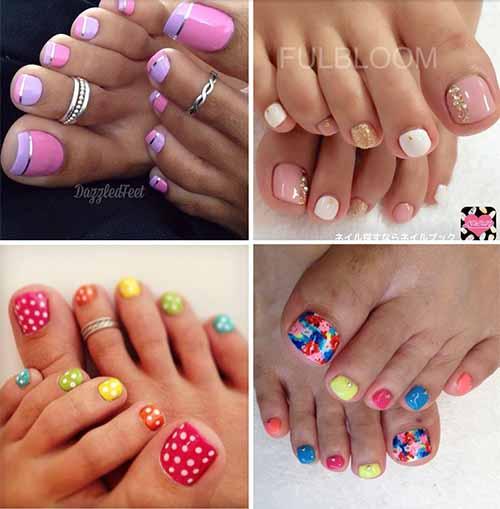 Easy Toe Nail Art Designs: 44 Easy And Cute Toenail Designs For Summer
