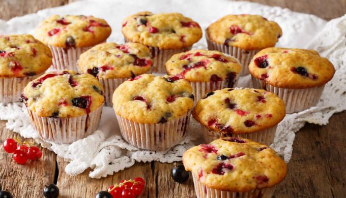 Redcurrant & Elderberry Muffins