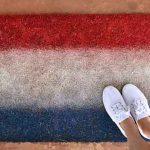 Ombre Patriotic Doormat