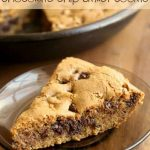 Soft and Chewy Chocolate Chip Skillet Cookie