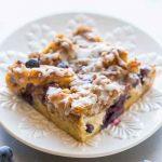 Overnight Blueberry Waffle Breakfast Bars