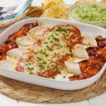 White Chicken Enchilada Recipe (Chile & Sour Cream Sauce)
