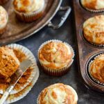 Pumpkin Cream Cheese Swirl Cupcakes