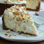 White Chocolate, Almond and Amaretto Cheesecake