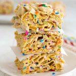 Funfetti Marshmallow Cereal Bars