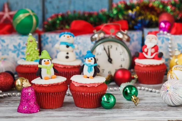 Fun Christmas Cupcakes